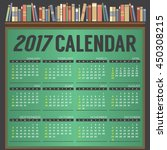 2017 printable calendar starts... | Shutterstock .eps vector #450308215