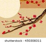 traditional artistic plum... | Shutterstock . vector #450308311