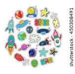 space patches set colorful... | Shutterstock .eps vector #450308491