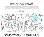 health insurance banner in... | Shutterstock .eps vector #450314371