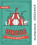 beautiful circus vector poster  ... | Shutterstock .eps vector #450314419