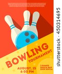 bowling tournament  poster or ... | Shutterstock .eps vector #450314695