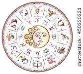 zodiac signs  horoscope  vector ... | Shutterstock .eps vector #450320221