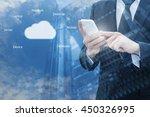 double exposure of professional ... | Shutterstock . vector #450326995