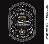 western antique frame vintage... | Shutterstock .eps vector #450329689