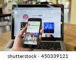 chiang mai  thailand   july 10  ... | Shutterstock . vector #450339121