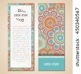cute vintage doodle cards set... | Shutterstock .eps vector #450340567