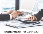 business people discussing the... | Shutterstock . vector #450344827