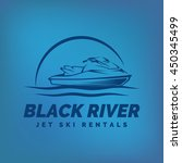 jet ski rental emblem on... | Shutterstock .eps vector #450345499