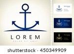 anchor vector logo | Shutterstock .eps vector #450349909