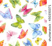 Watercolor Pattern Of Bright...