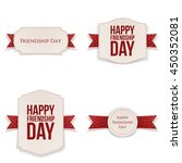friendship day realistic...   Shutterstock .eps vector #450352081