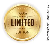 gold limited edition button ... | Shutterstock .eps vector #450353137