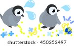 the pretty penguin babies and a ... | Shutterstock .eps vector #450353497