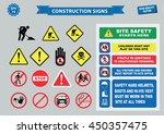 set of construction sign ... | Shutterstock .eps vector #450357475