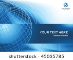 business presentation... | Shutterstock .eps vector #45035785