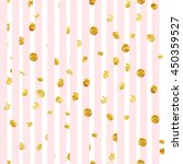 pink stripes and gold dots... | Shutterstock . vector #450359527