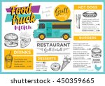 food truck festival menu... | Shutterstock .eps vector #450359665