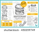 menu placemat food restaurant... | Shutterstock .eps vector #450359749