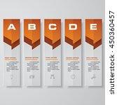 design clean number banners... | Shutterstock .eps vector #450360457