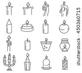 Candle Icons Set. Candlesticks...