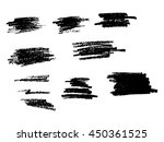 pencil mark isolated on white | Shutterstock .eps vector #450361525