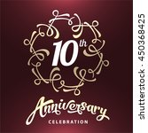 10 years anniversary template... | Shutterstock .eps vector #450368425