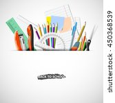 back to school background with... | Shutterstock .eps vector #450368539