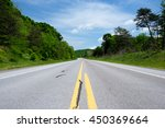 empty highway in pennsylvania... | Shutterstock . vector #450369664