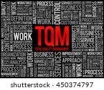 tqm   total quality management...   Shutterstock .eps vector #450374797