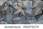 randomly scattered triangles of ... | Shutterstock .eps vector #450375274