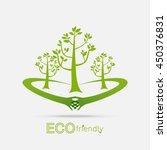 eco friendly hands hug concept... | Shutterstock .eps vector #450376831