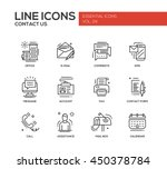 contact us   modern vector... | Shutterstock .eps vector #450378784