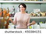 portrait of positive mature... | Shutterstock . vector #450384151