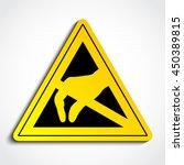 3d esd triangle symbol  ... | Shutterstock .eps vector #450389815