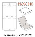 stock vector box for pizza.... | Shutterstock .eps vector #450393937