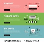 flat line web banners of email... | Shutterstock .eps vector #450394915