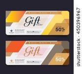 gift voucher premier color gold ... | Shutterstock .eps vector #450396967