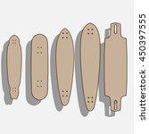 blank longboard template.... | Shutterstock .eps vector #450397555