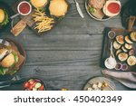 frame from various food ... | Shutterstock . vector #450402349