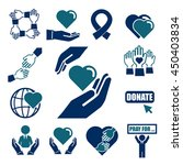 donate  charity icon set | Shutterstock .eps vector #450403834