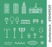 linear landscape icons line... | Shutterstock . vector #450409039