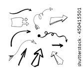 vector illustration. set hand... | Shutterstock .eps vector #450415501