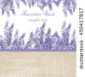 lavender card with provence... | Shutterstock .eps vector #450417817