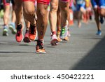 marathon competition during an... | Shutterstock . vector #450422221