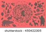 handsketched elements of... | Shutterstock .eps vector #450422305