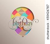illustration of happy birthday...   Shutterstock .eps vector #450426787