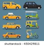 vector set of modern world taxi ... | Shutterstock .eps vector #450429811