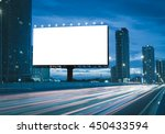 blank billboard on the highway... | Shutterstock . vector #450433594
