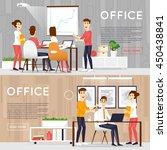 business cartoon characters.... | Shutterstock .eps vector #450438841